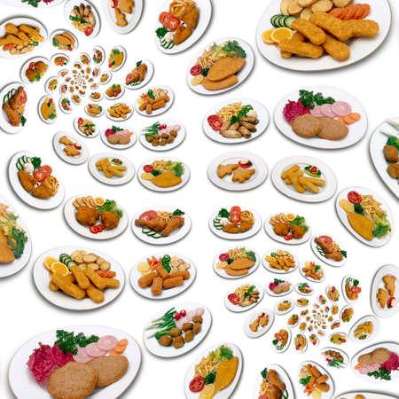 Abundance of chicken meal swirl pattern Stock Photo - 13165312