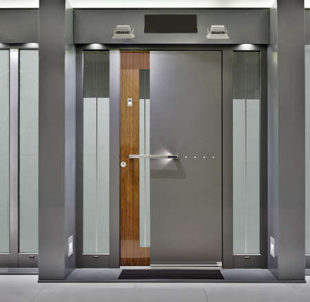 fireproof: Massive Metallic Fireproof Front Door