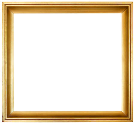 Simple Golden Frame Isolated Inside and Outside