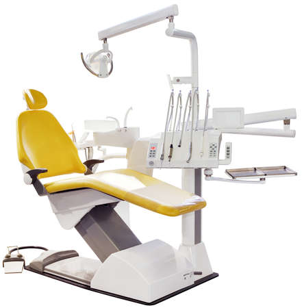 Modern Dentist Chair Isolated  photo