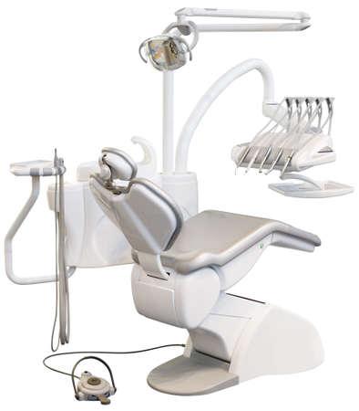 分離された近代的な歯科医の椅子