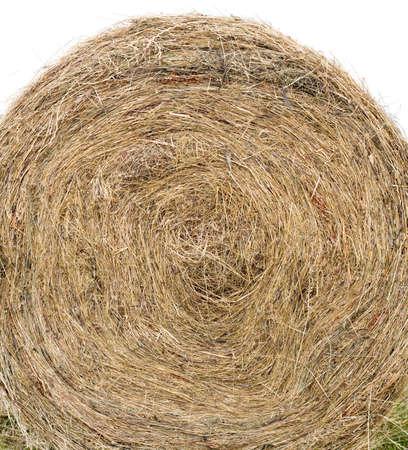bale: Hay Bale Isolated on White Background Stock Photo