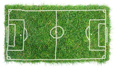soccerfield: Doodle Soccer Field op een witte achtergrond Stockfoto