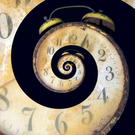끝없는 시간 전달의 개념적 이미지