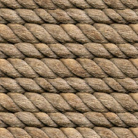 hanf: Nahtlose Heamp Rope Texturmusters