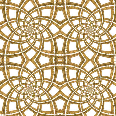 Golden Picture Frames Seamless Pattern