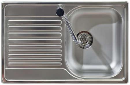 ステンレス水蛇口や洗面シンク 写真素材
