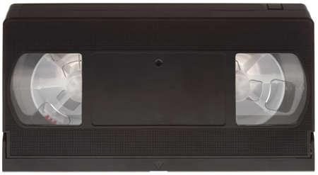 videocassette: Classic casete VHS aislada en el fondo blanco