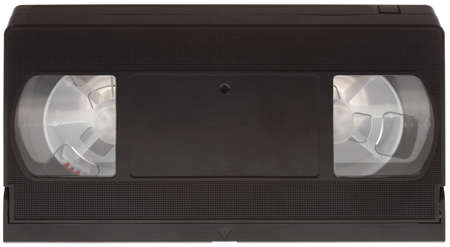 videocassette: Classic VHS Cassette Isolated on White Background