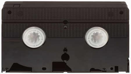 videocassette: Classic VHS Videocinta Aislado sobre fondo blanco Foto de archivo