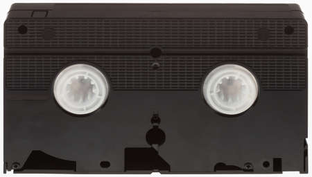 vhs videotape: Classic VHS Videotape Isolated on White Background Stock Photo