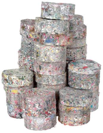 briquettes: Stack of Compressed Paper Log Briquettes Cutout Stock Photo