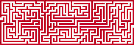 Simple Panoramic Maze Pattern Isolated on White Background Stock Photo - 18881338