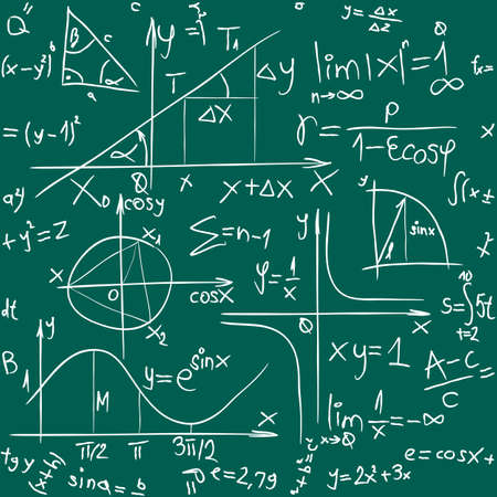 integral: Seamless Illustration of Trigonometry Pattern Background