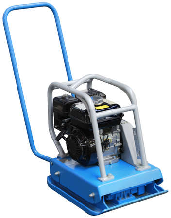 vibrating: Vibrating Compactor Machine Isolated with Clipping Path Stock Photo