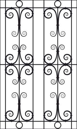 victorian fence: Seamless Vector Illustration of Wrought Iron Design Pattern