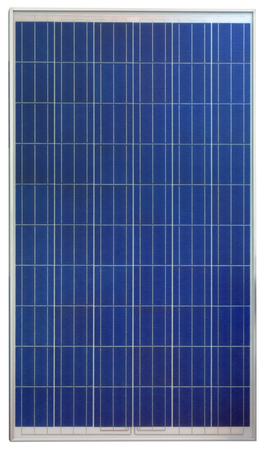 Photovoltaic Solar Panel Isolated on White Background