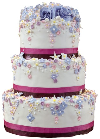 Wedding Cake Isolated with Clipping Path