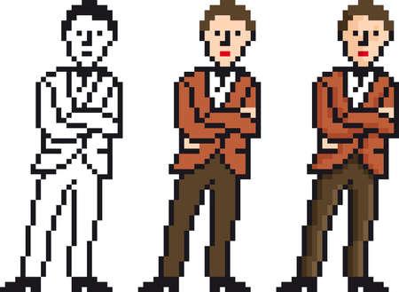 Vecto Illustration of Pixel Businessman illustration