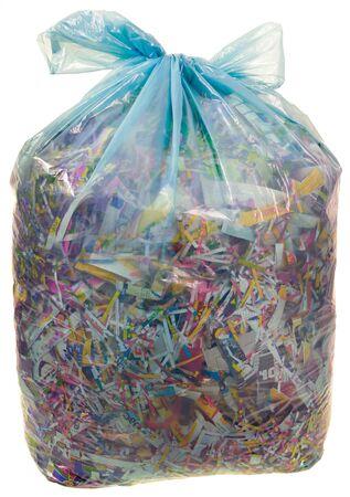 Banque d images - Détruit papier à sac en plastique transparent pour le  recyclage de découpe eadef537e43