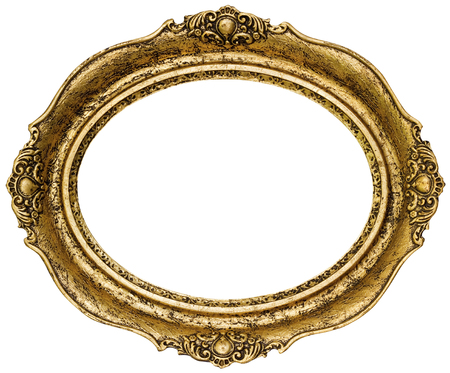 #34488307   Golden Oval Picture Frame Cutout