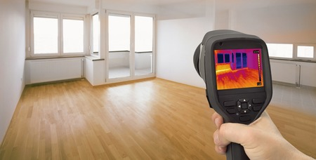 Thermal Image of Heat Leak thru Windows