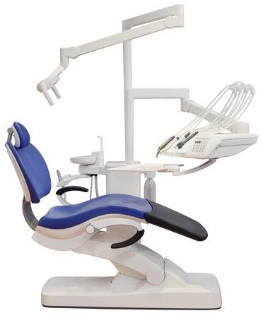 Zahnarzt-Stuhl isoliert mit Clipping-Pfad