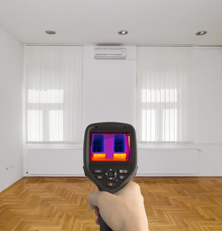 ラジエーター ヒーター熱赤外画像