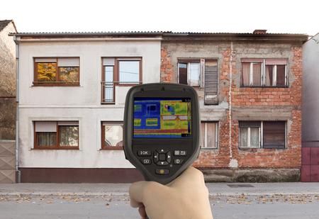 Heat Loss Comparison with Infrared Camera
