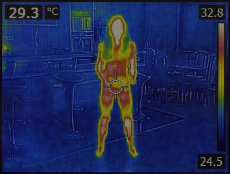 人間の体の熱画像