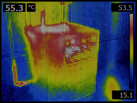 Zentralheizung Furnace Infrarot-Inspektion Standard-Bild