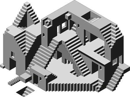 Abstract Confusion Observatory Building Illustration