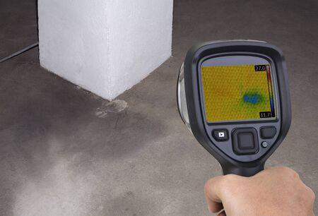 Kamin Wärmebildkamera Leck Investigation