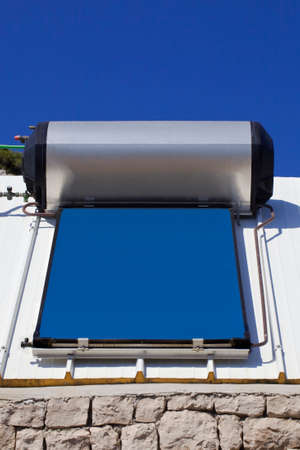 Solar Water Heater Panel Bolier Stockfoto