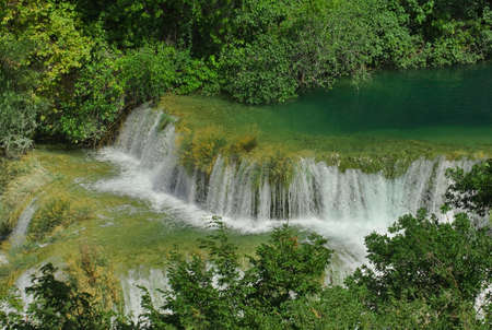 National Park KRKA River Waterfalls