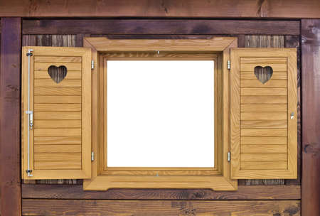 Decorative Vintage Wooden Challet Window