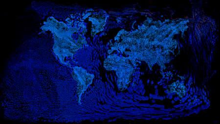 Schematic View of Global Ocean Warming Stock Photo