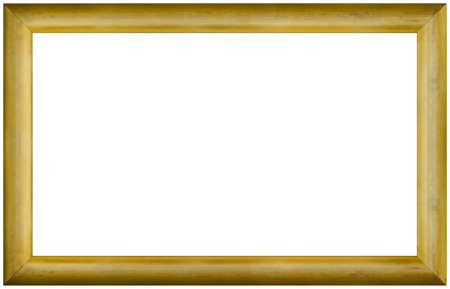 Old Gilded Panoramic Picture Frame Cutout Standard-Bild
