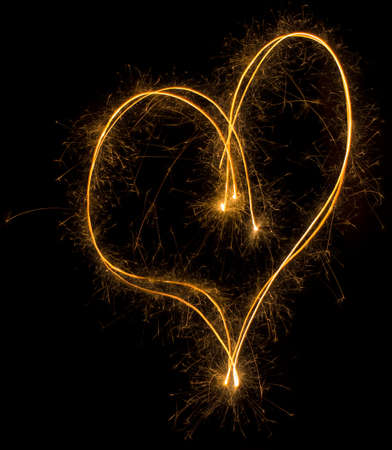 Party Sparkler Heart Shape Background