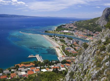 Omis Town Dalmatia Region of Croatia Standard-Bild