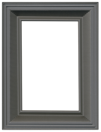 Simple Gray Metallic Picture Frame Cutout