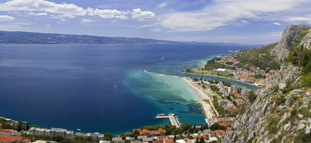 Panoramic View of Omis Town