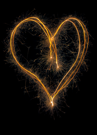 Sparkler Hearth Symbol Long Exposure Standard-Bild