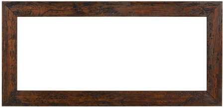 Weathered Wooden Picture Frame Cutout Standard-Bild