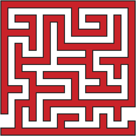 Vector Illustration of Simple Labyrinth Maze