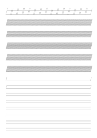 Technical Italic Writing Template Grid Background Illustration