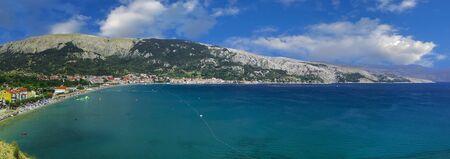 Famous Baska Beach Krk Island Croatia