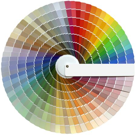 Round Color Palette Swatch Guide Cutout Standard-Bild