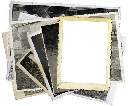 Pile of Old Photos Template Cutout