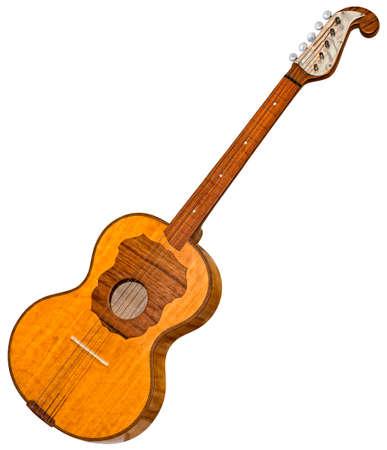 Tambourine Croatian Traditional Musical Instrument Cutout Foto de archivo